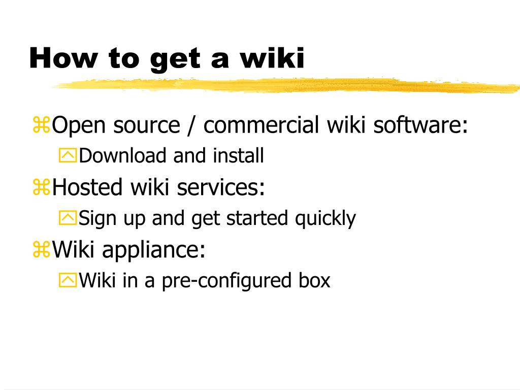 How to get a wiki