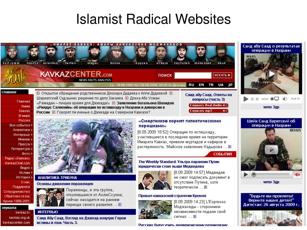 Islamist Radical Websites