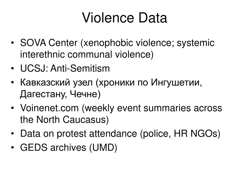 Violence Data