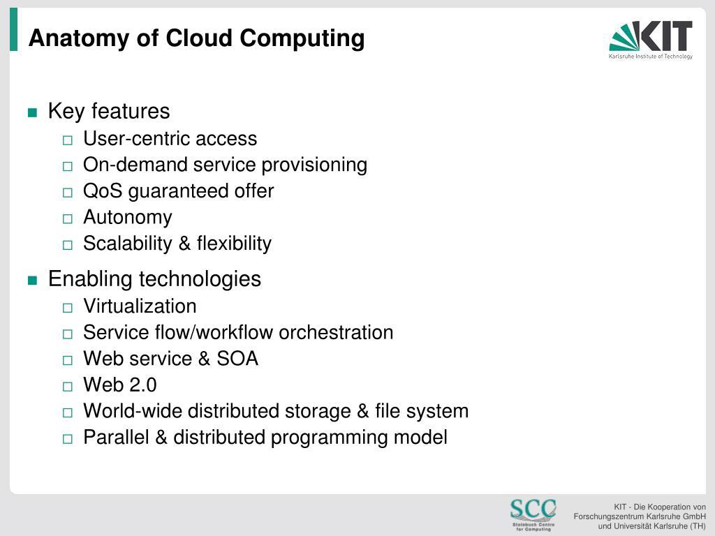Anatomy of Cloud Computing