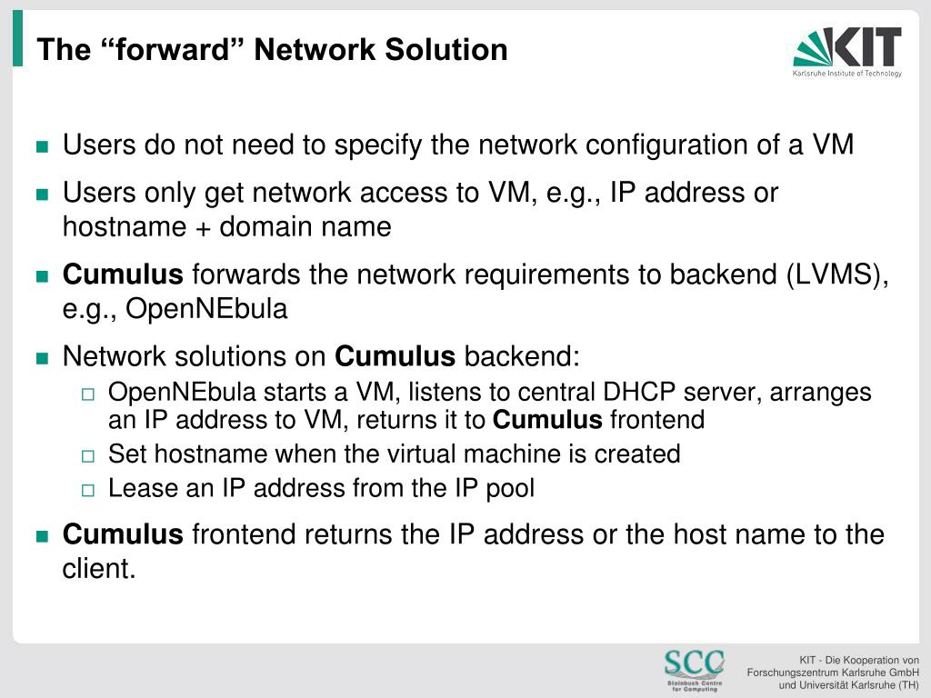 "The ""forward"" Network Solution"