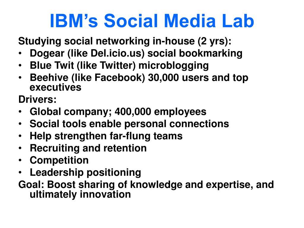 IBM's Social Media Lab
