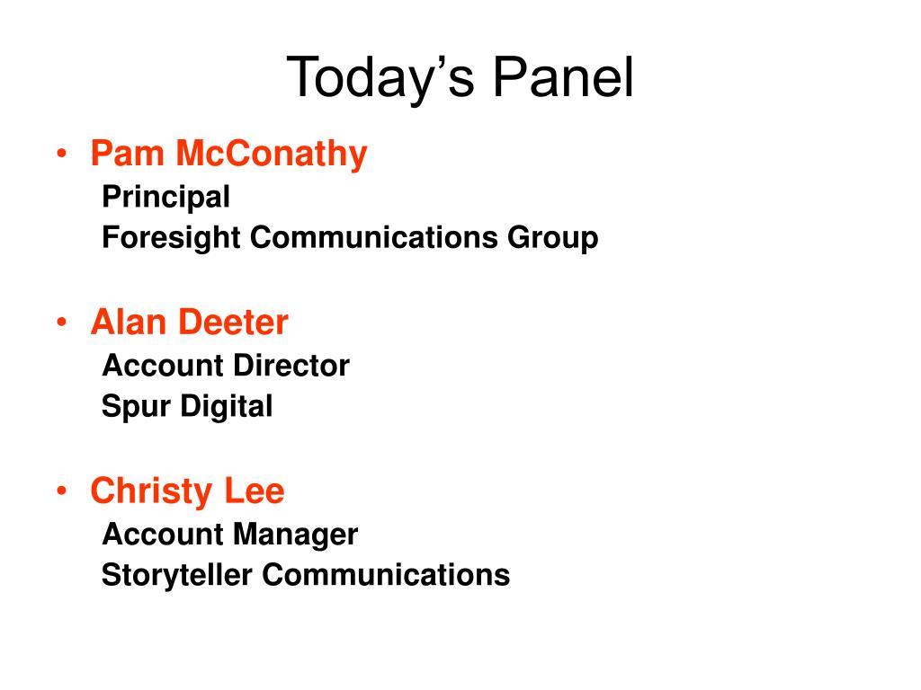 Today's Panel
