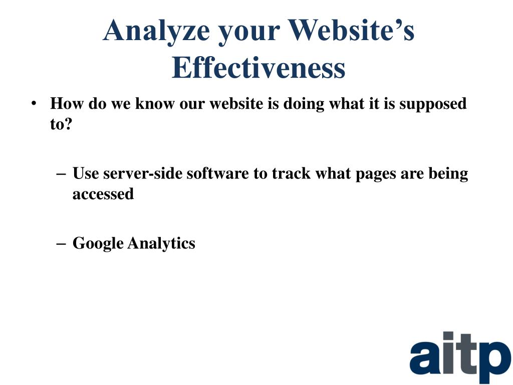 Analyze your Website's Effectiveness