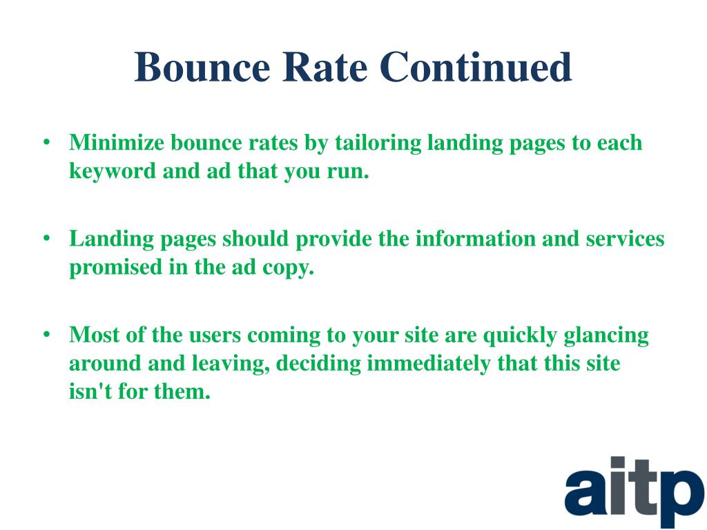 Bounce Rate Continued