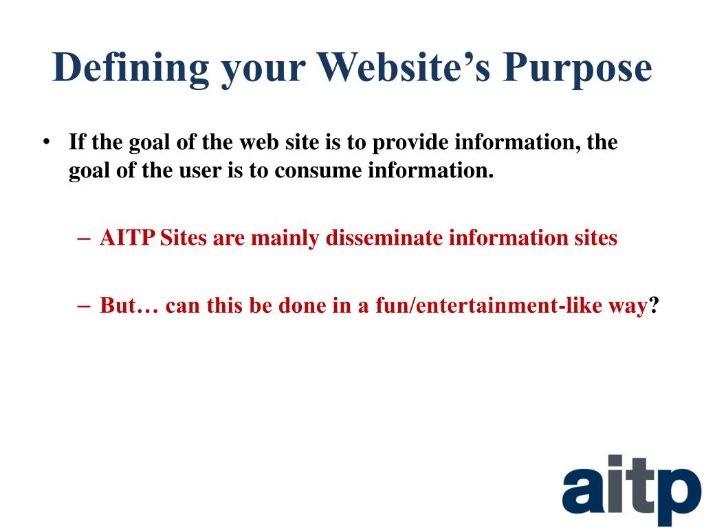 Defining your Website's Purpose