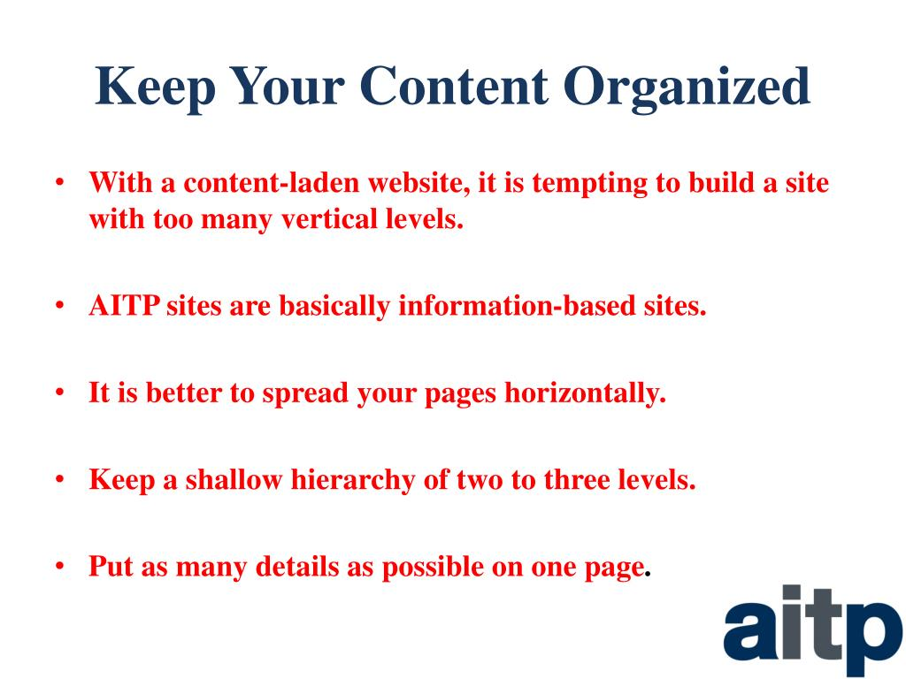 Keep Your Content Organized