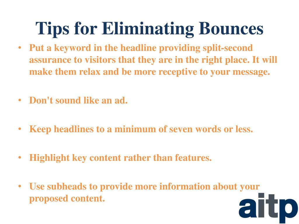 Tips for Eliminating Bounces