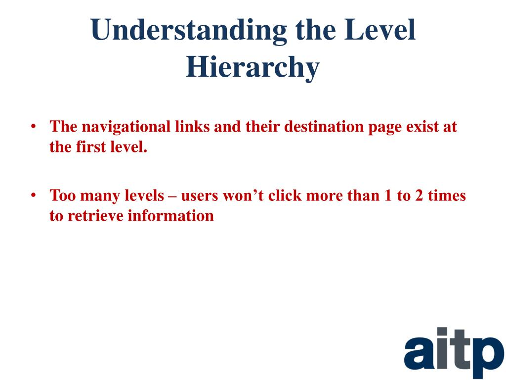 Understanding the Level Hierarchy
