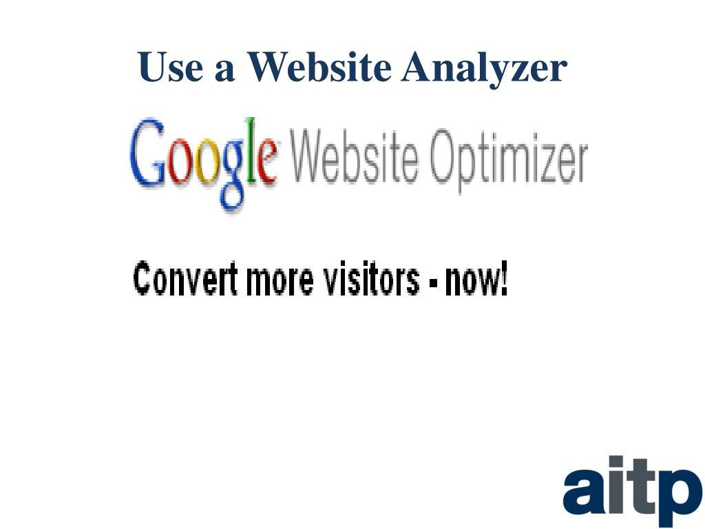 Use a Website Analyzer