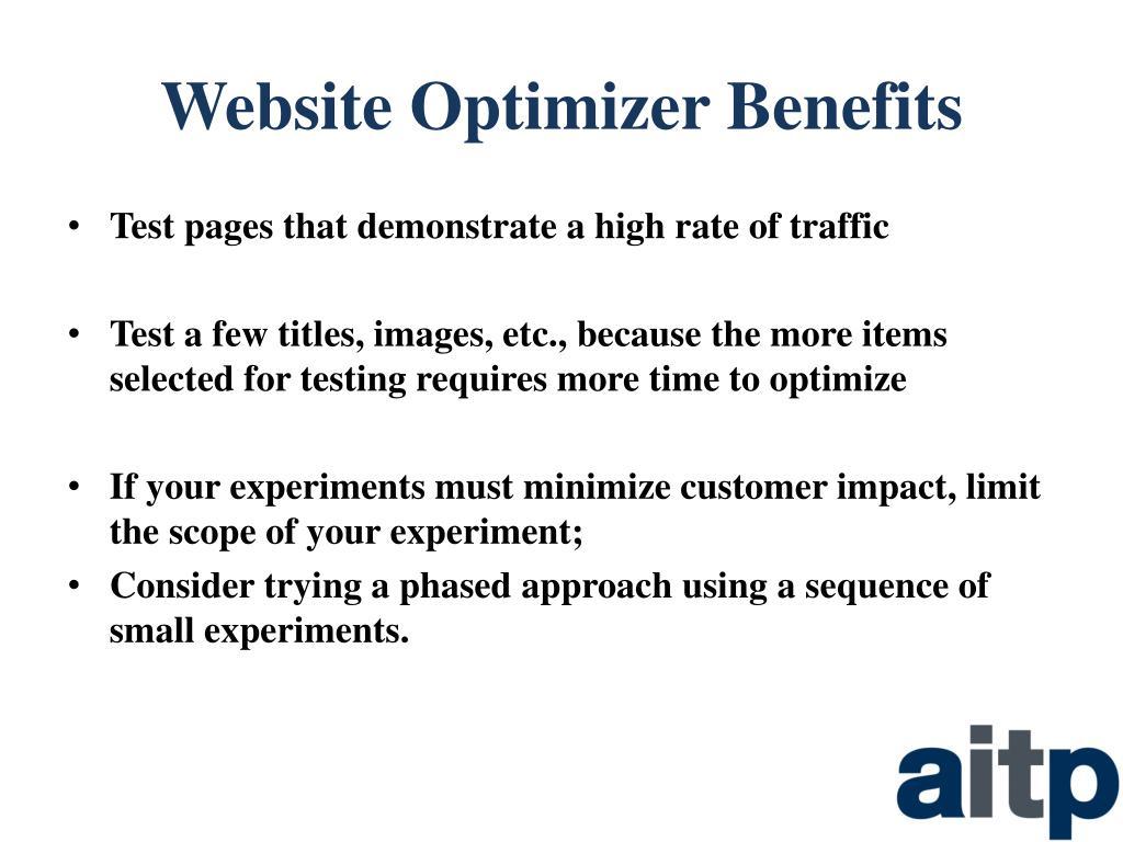 Website Optimizer Benefits