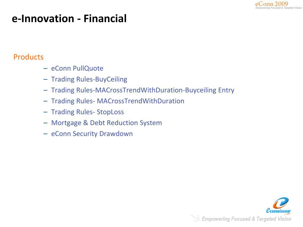 e-Innovation - Financial