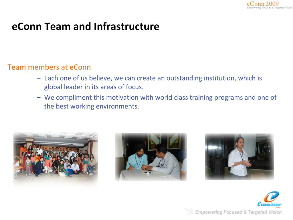 eConn Team and Infrastructure