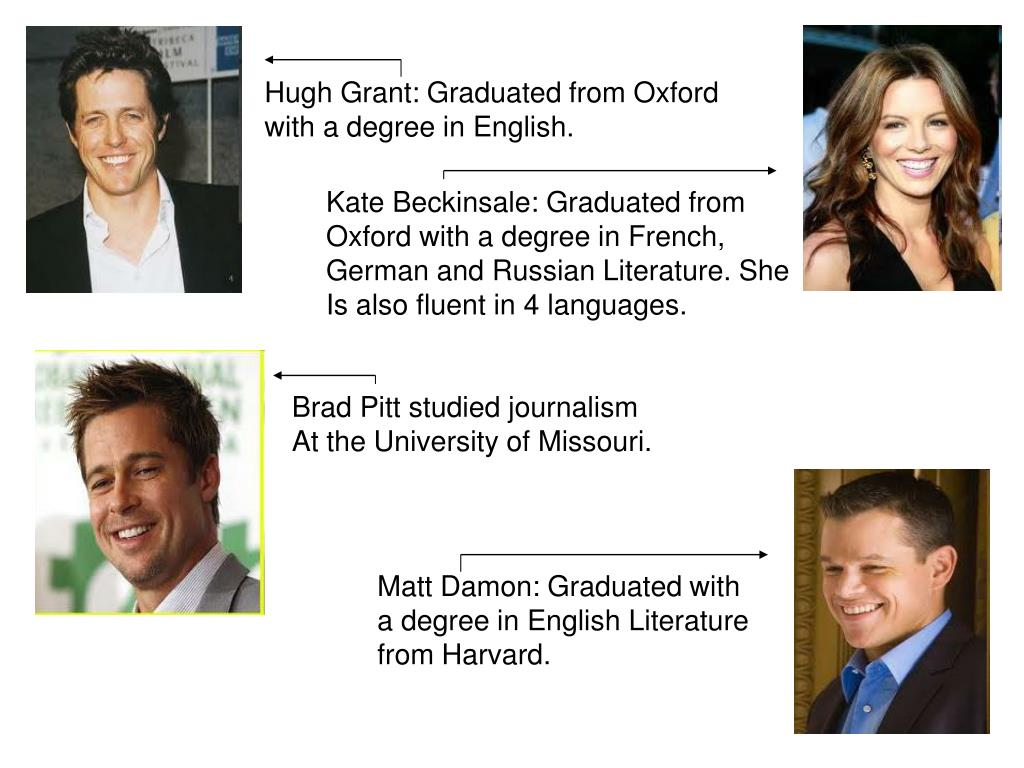 Hugh Grant: Graduated from Oxford