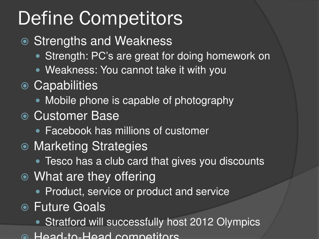 Define Competitors