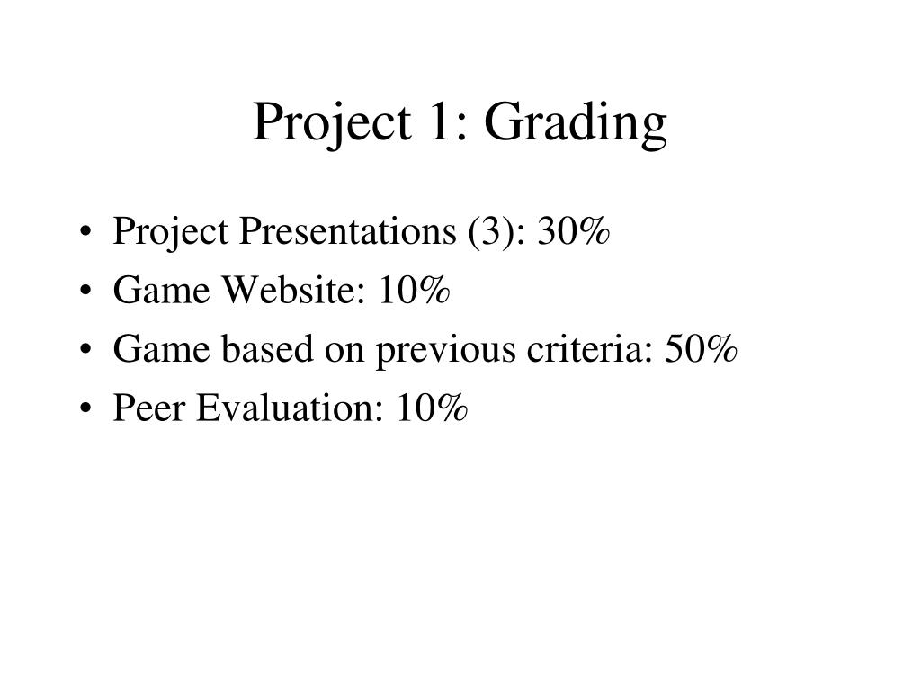 Project 1: Grading