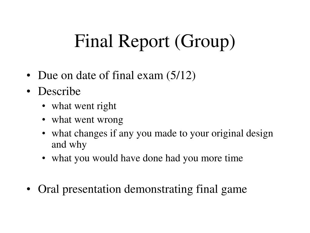 Final Report (Group)