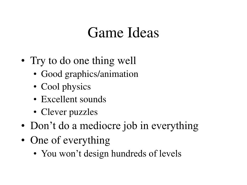 Game Ideas