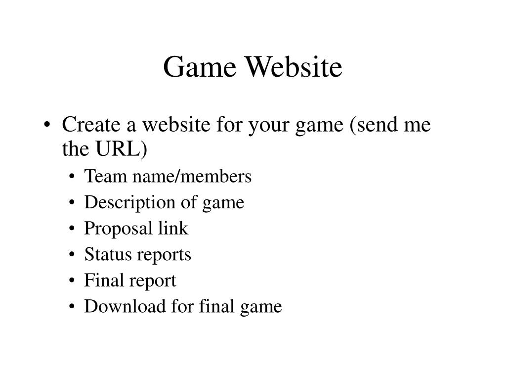 Game Website