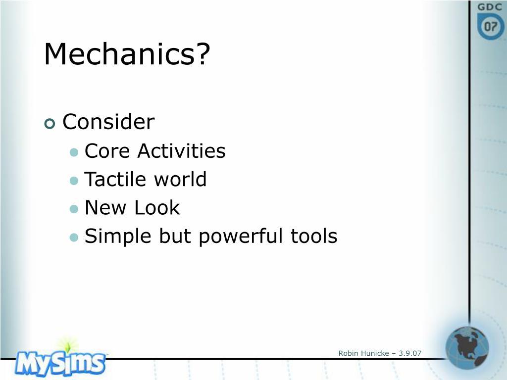 Mechanics?