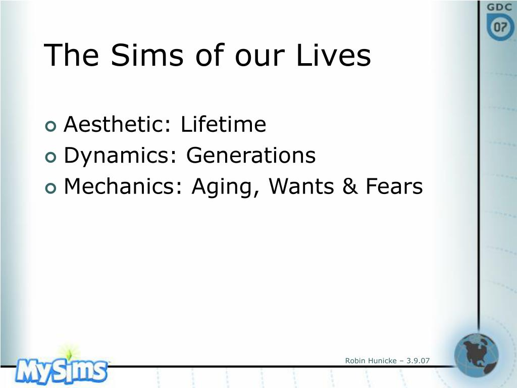The Sims of our Lives