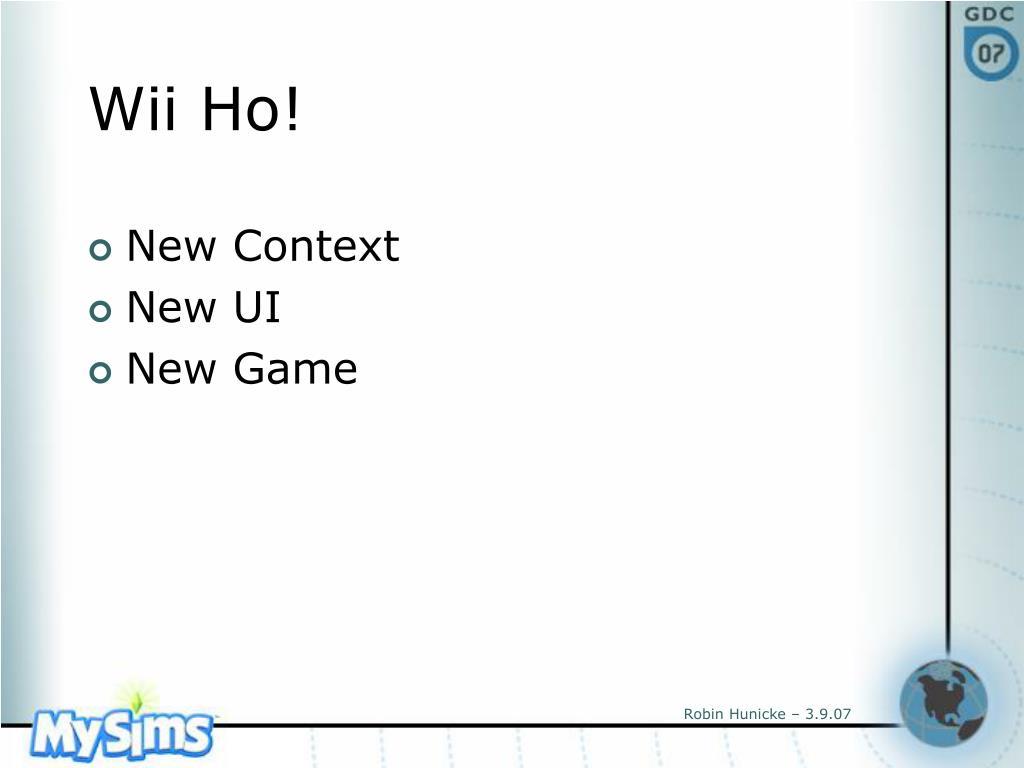 Wii Ho!