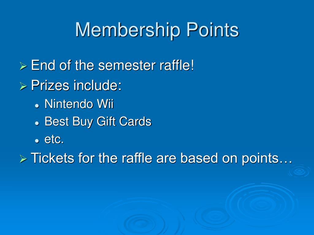 Membership Points