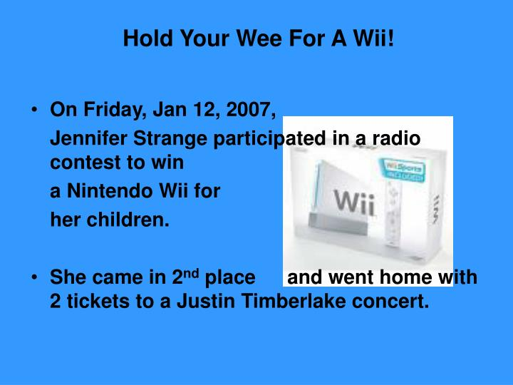 Hold Your Wee For A Wii!