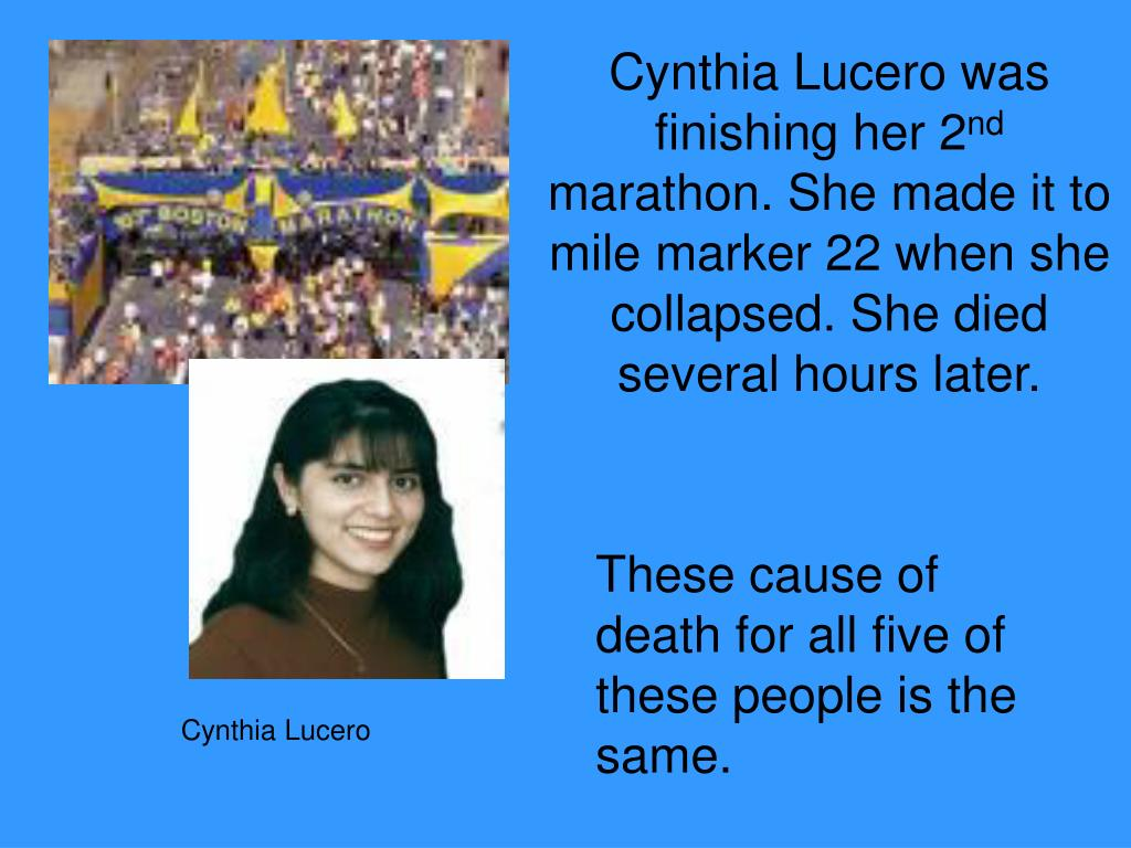 Cynthia Lucero was finishing her 2