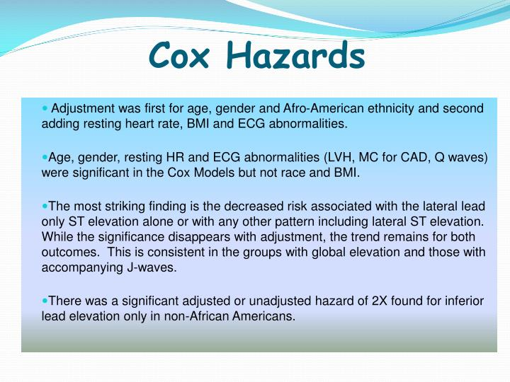 Cox Hazards