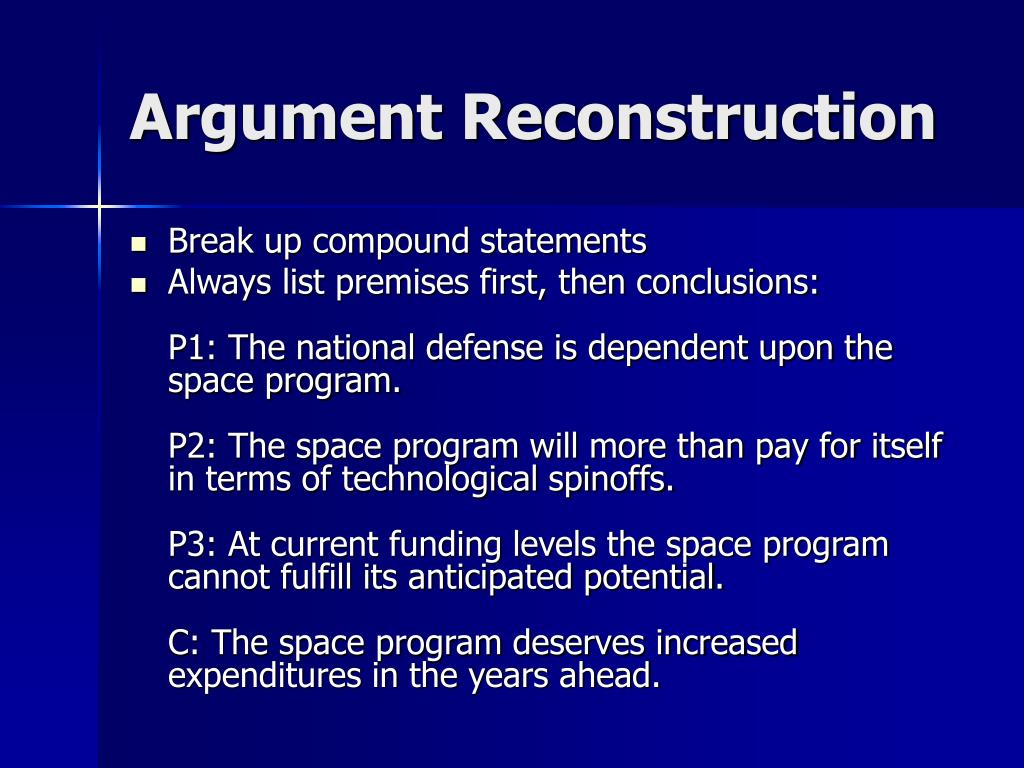 Argument Reconstruction