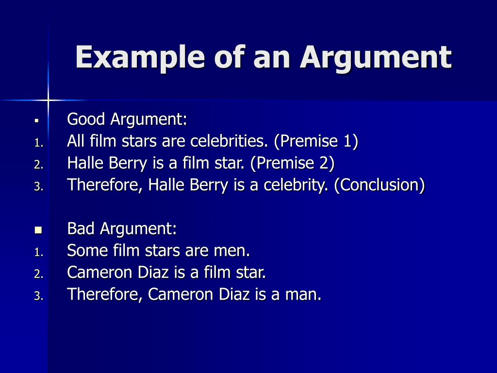 Example of an Argument