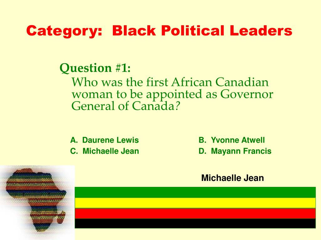 Category:  Black Political Leaders