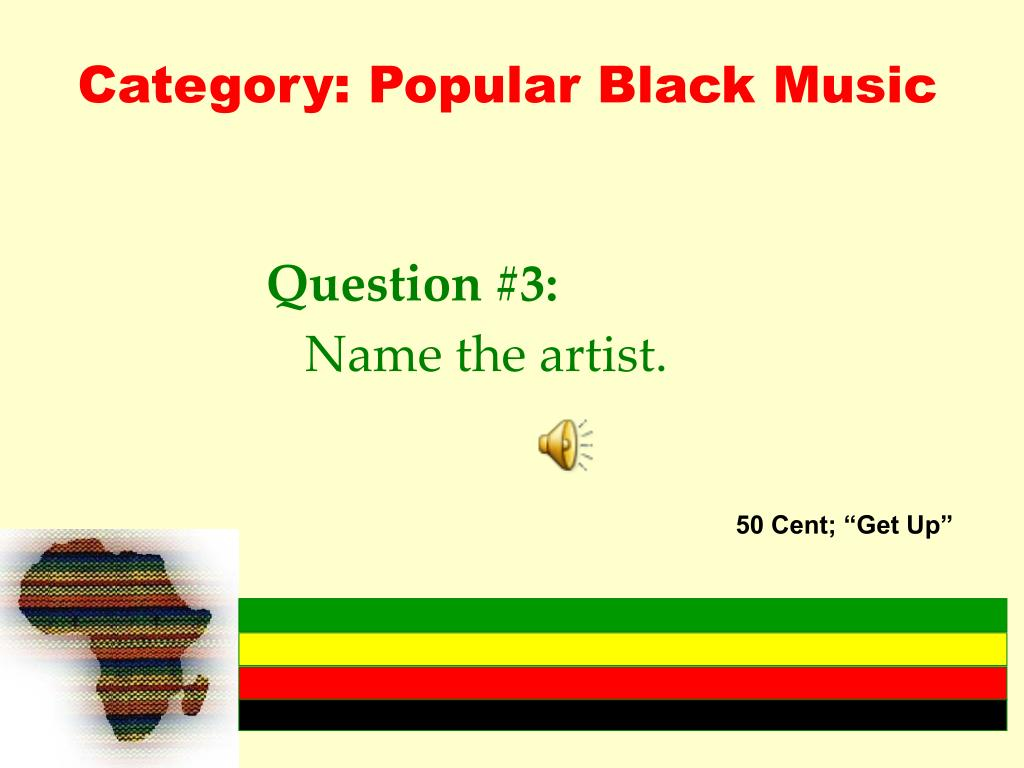 Category: Popular Black Music