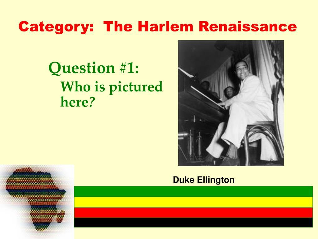 Category:  The Harlem Renaissance