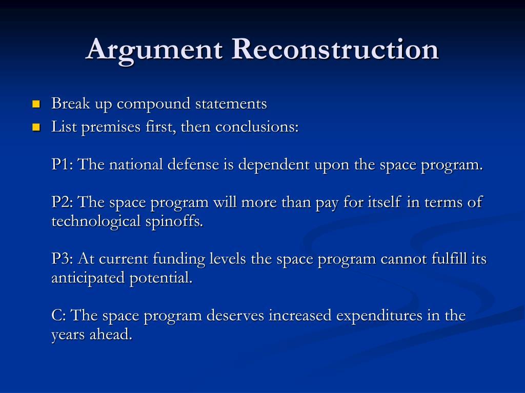 Argument Reconstruction