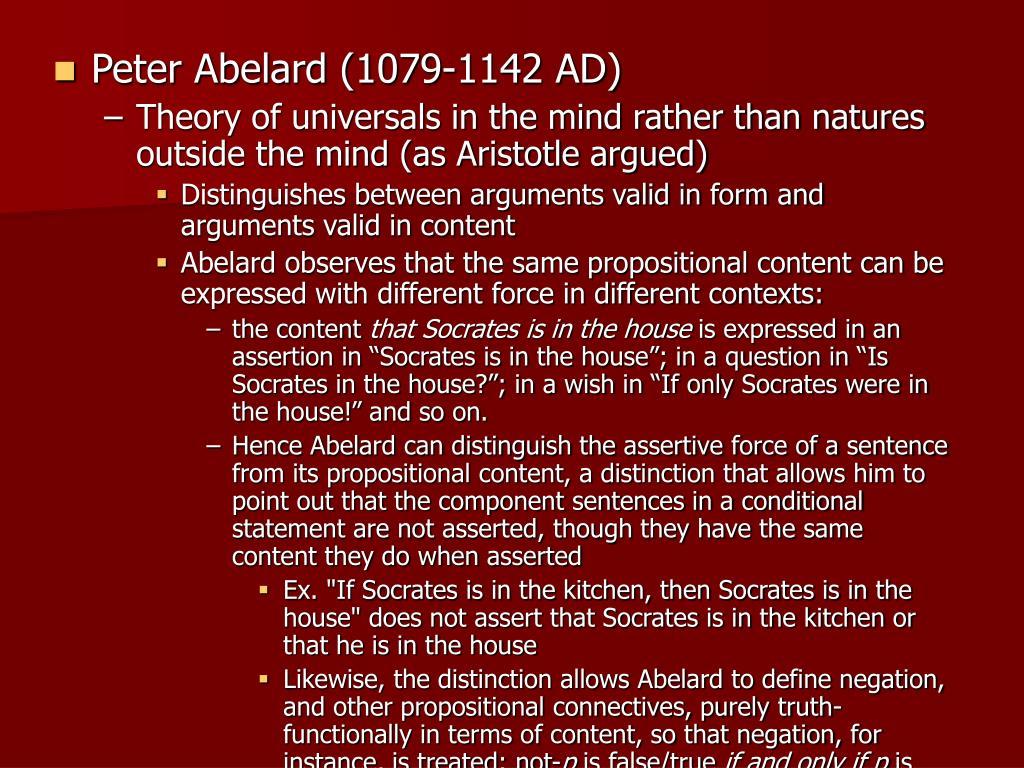 Peter Abelard (1079-1142 AD)