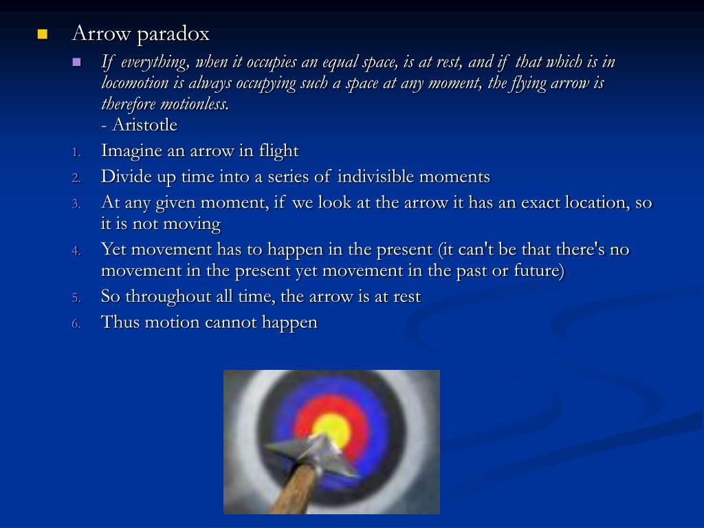 Arrow paradox