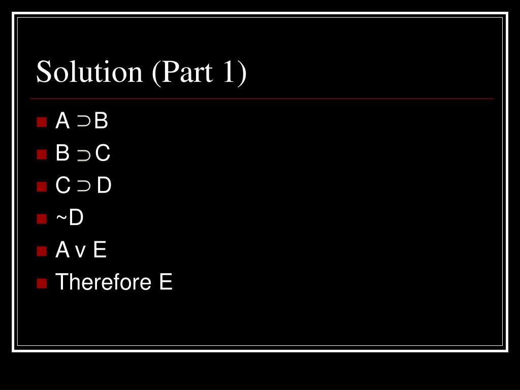 Solution (Part 1)