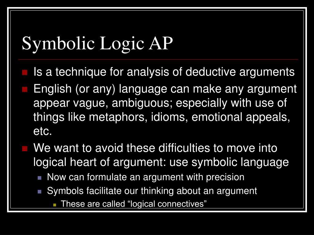 Symbolic Logic AP