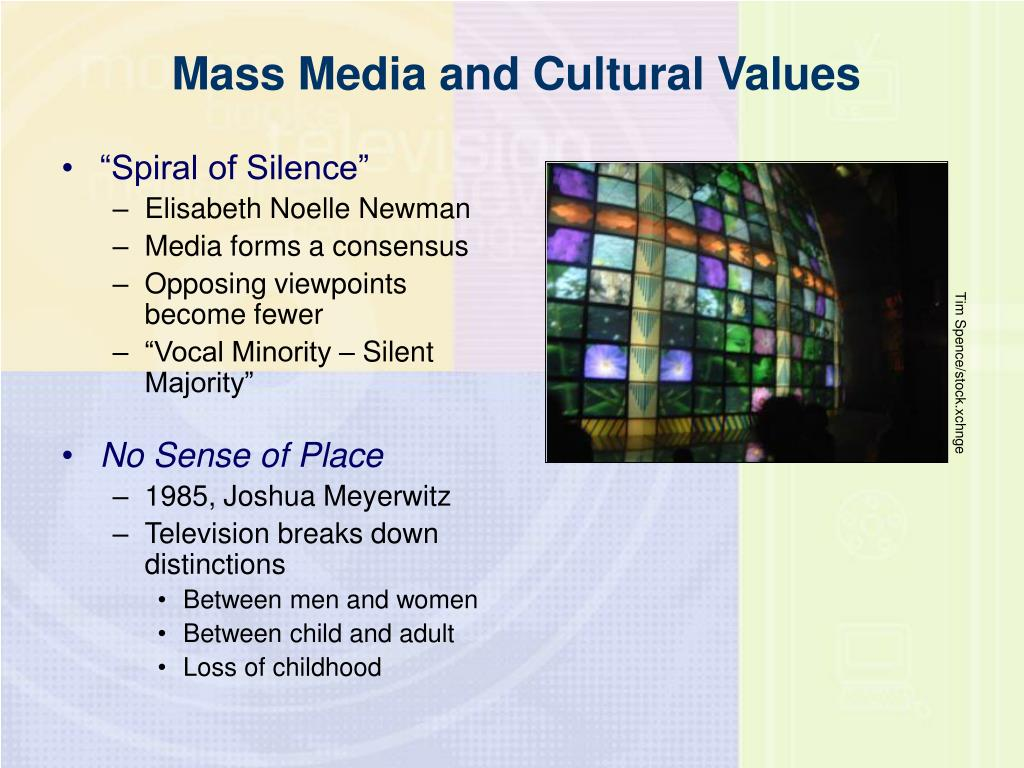 Mass Media and Cultural Values