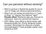 can you perceive without sensing