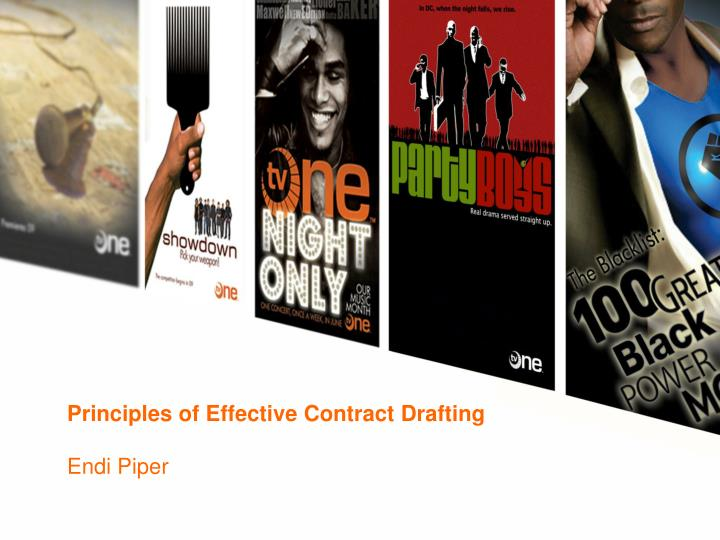 Principles of Effective Contract Drafting