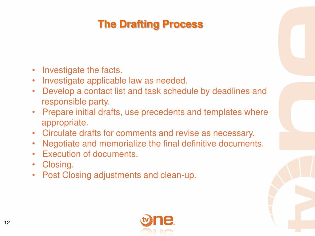 The Drafting Process