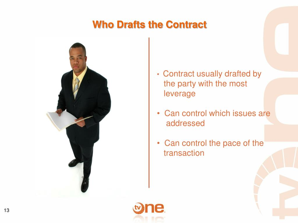 Who Drafts the Contract