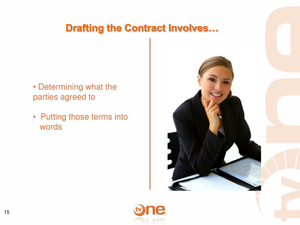 Drafting the Contract Involves…
