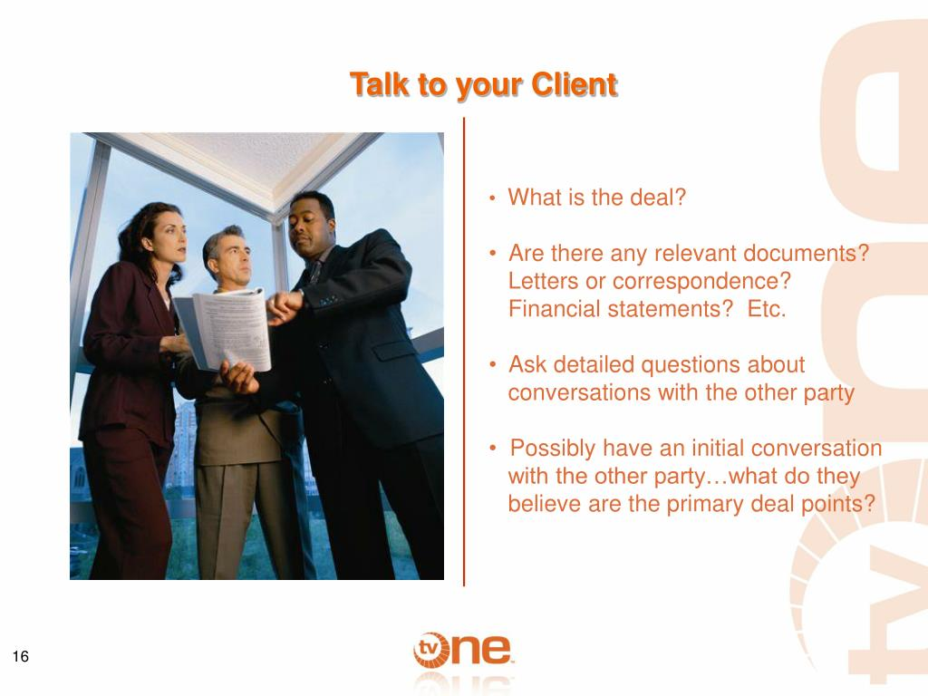 Talk to your Client