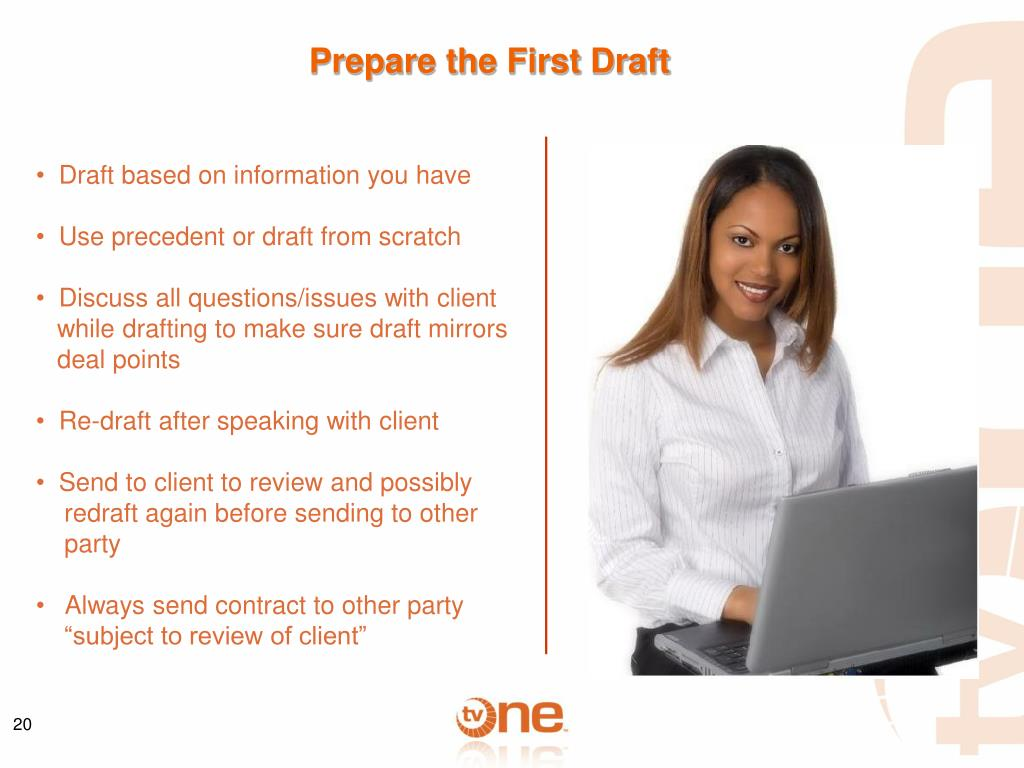 Prepare the First Draft
