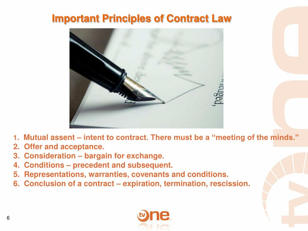 Important Principles of Contract Law