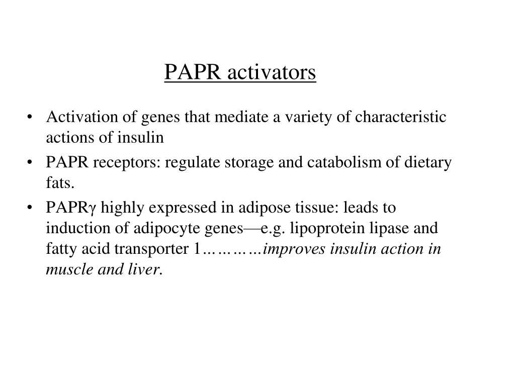 PAPR activators